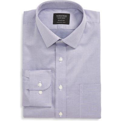 Nordstrom Shop Smartcare(TM) Trim Fit Houndstooth Dress Shirt - Purple