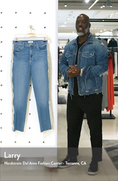 Sada High Waist Tape Outseam Crop Slim Jeans, sales video thumbnail
