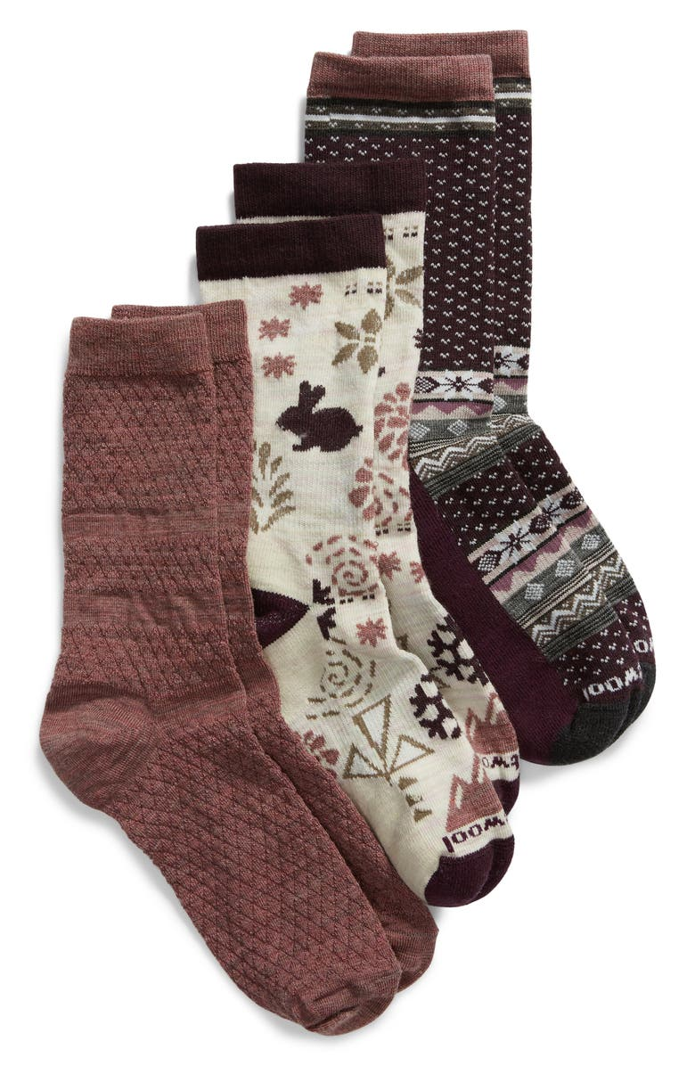 SMARTWOOL 3-Pack Crew Socks, Main, color, 900
