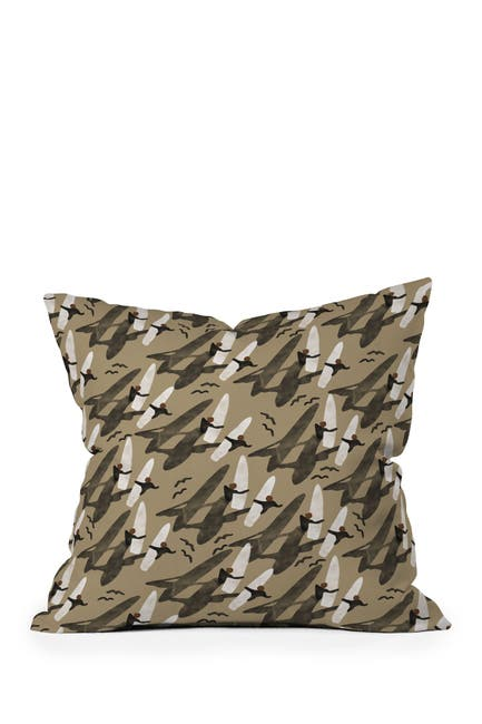 Image of Deny Designs Marta Barragan Camarasa Sun Sea and Surf Square Throw Pillow