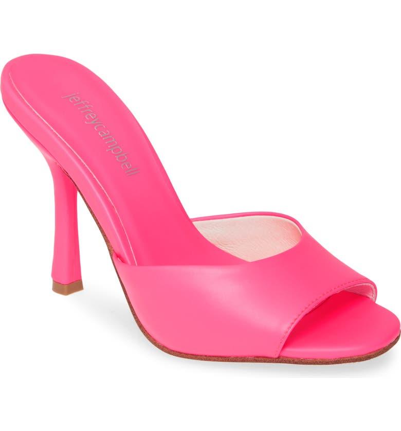 JEFFREY CAMPBELL PG12 Slide Sandal, Main, color, FUCHSIA NEON