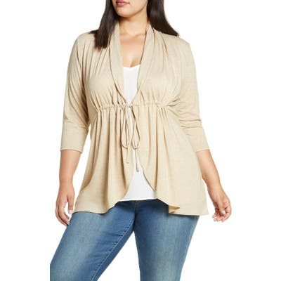 Plus Size Kiyonna Sunset Stroll Cardigan, Ivory