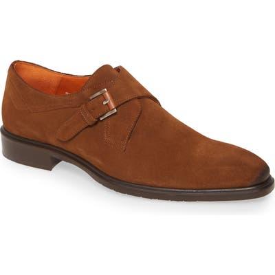 Mezlan Praga Monk Strap Shoe- Brown