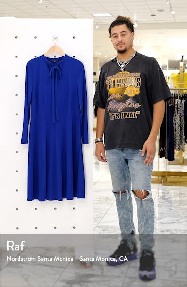 Tie Neck Long Sleeve Dress, sales video thumbnail