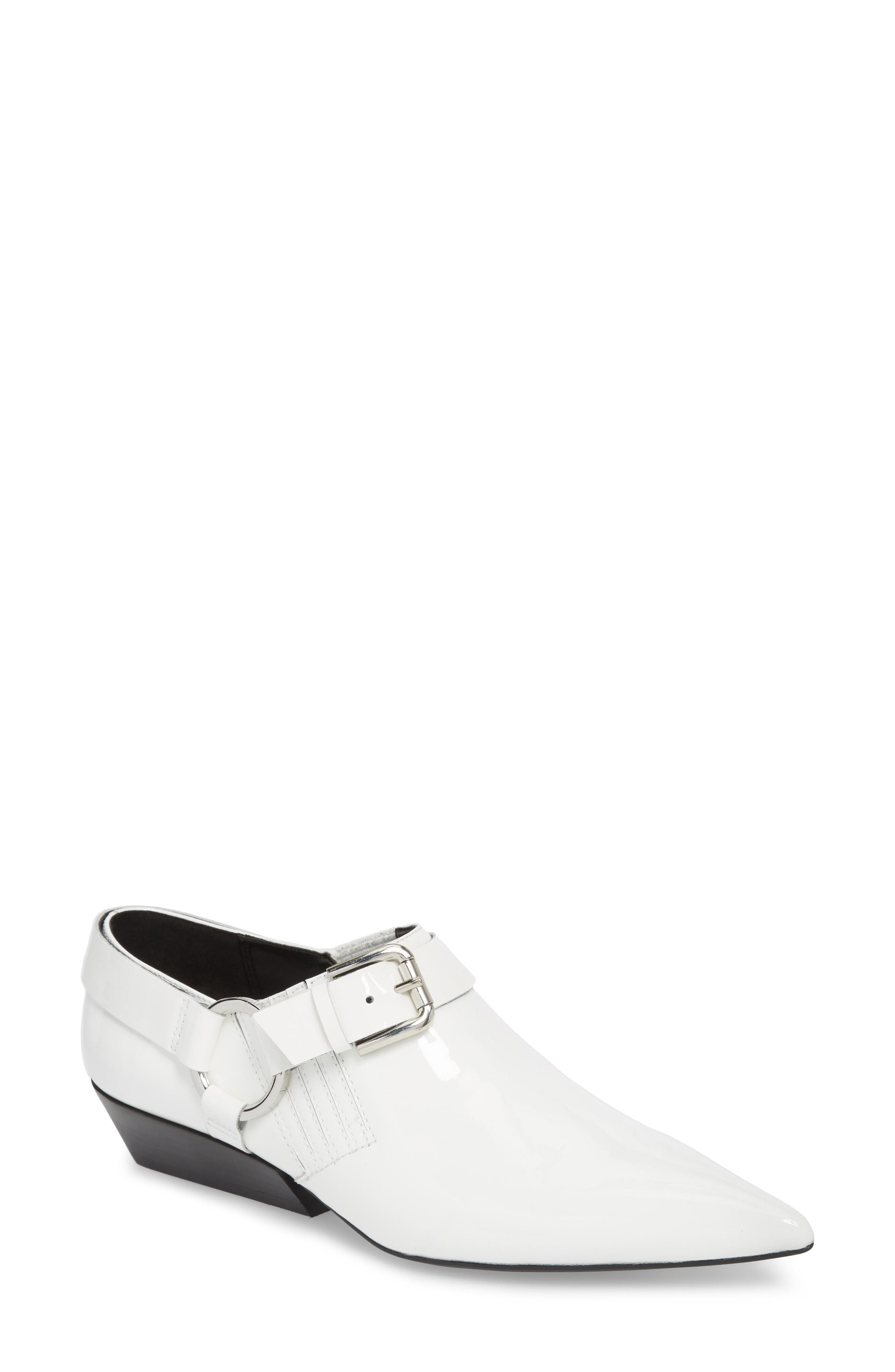 Calvin Klein Jeans Ellen Low Buckle Bootie, White