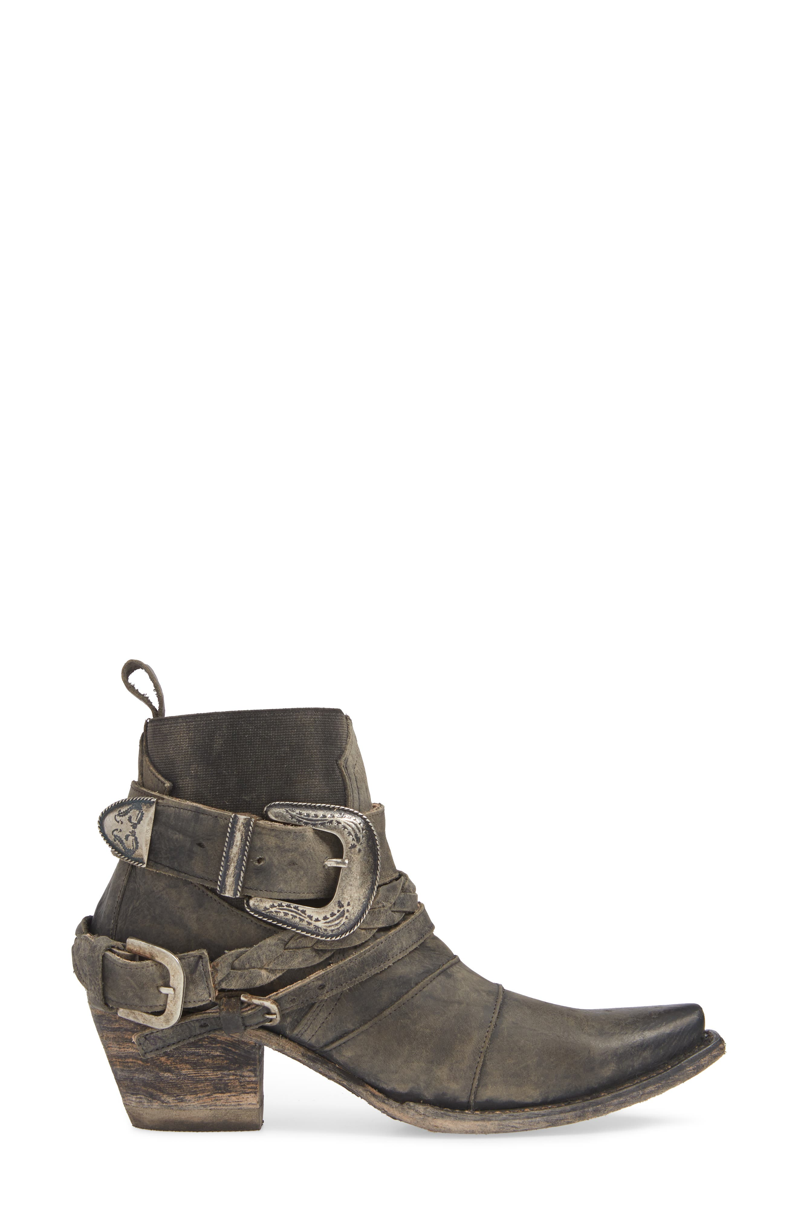 ,                             x Junk Gypsy HWY 237 Bootie,                             Alternate thumbnail 3, color,                             BLACK LEATHER