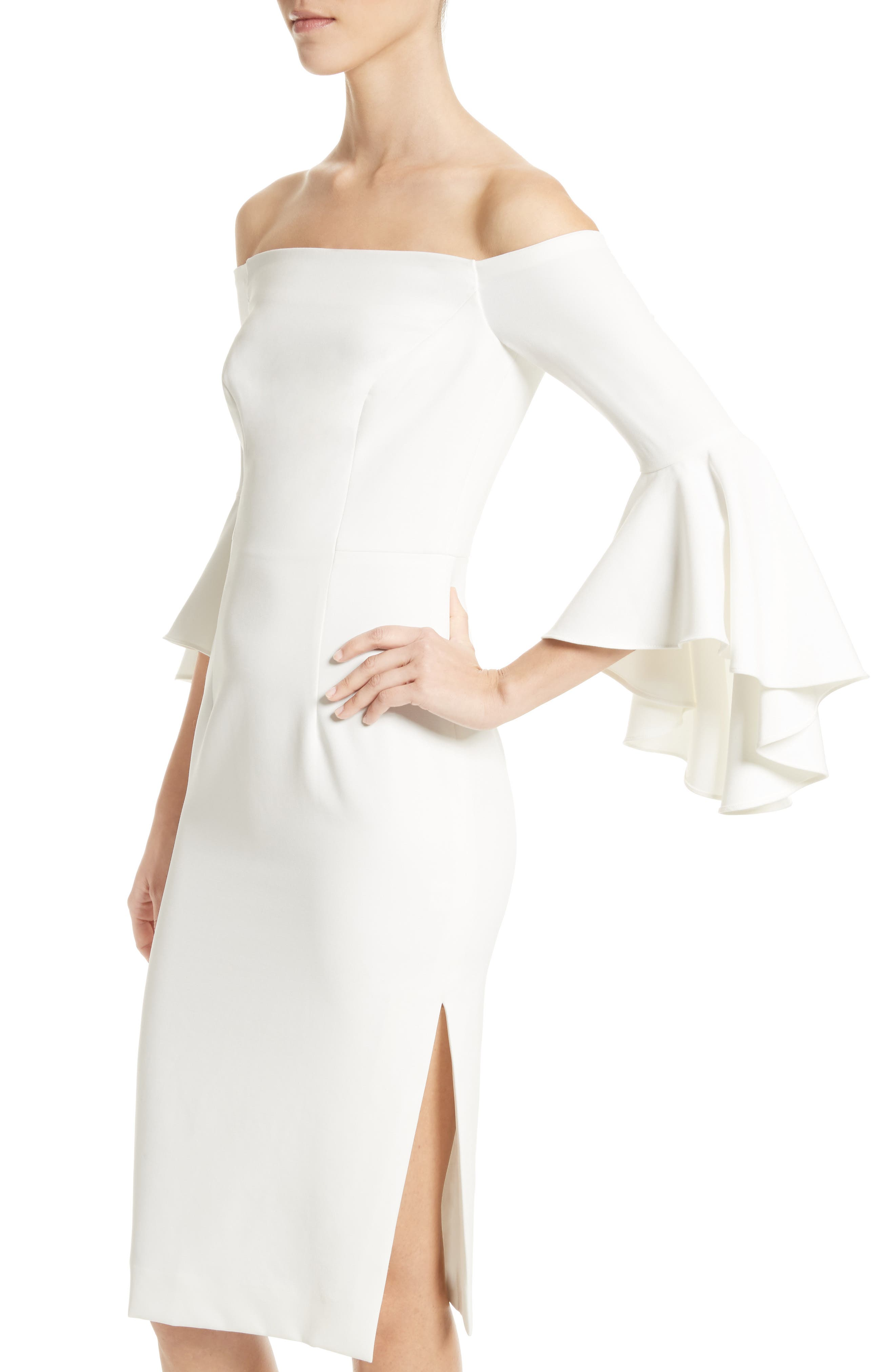 ,                             Selena Off the Shoulder Midi Dress,                             Alternate thumbnail 25, color,                             150