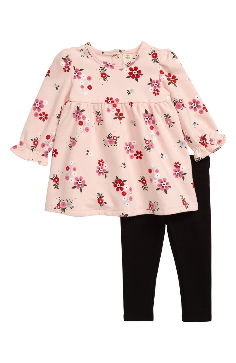 TUCKER + TATE Floral Fleece Tunic & Leggings Set, Main, color, PINK ENGLISH WINTER FLORAL