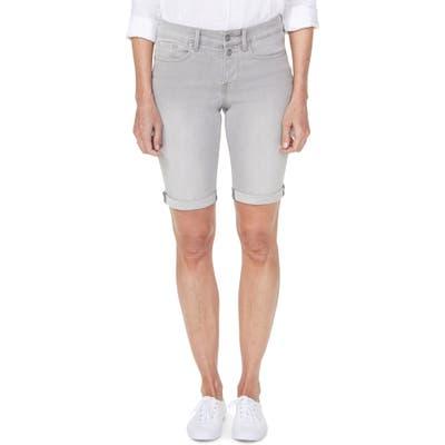 Nydj Briella Roll Cuff Bermuda Shorts, Grey