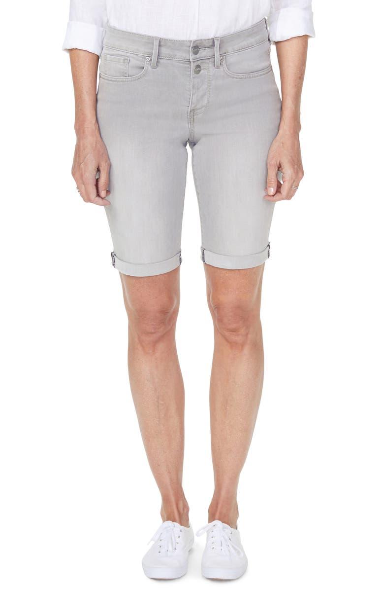 NYDJ Briella Roll Cuff Bermuda Shorts, Main, color, GALE