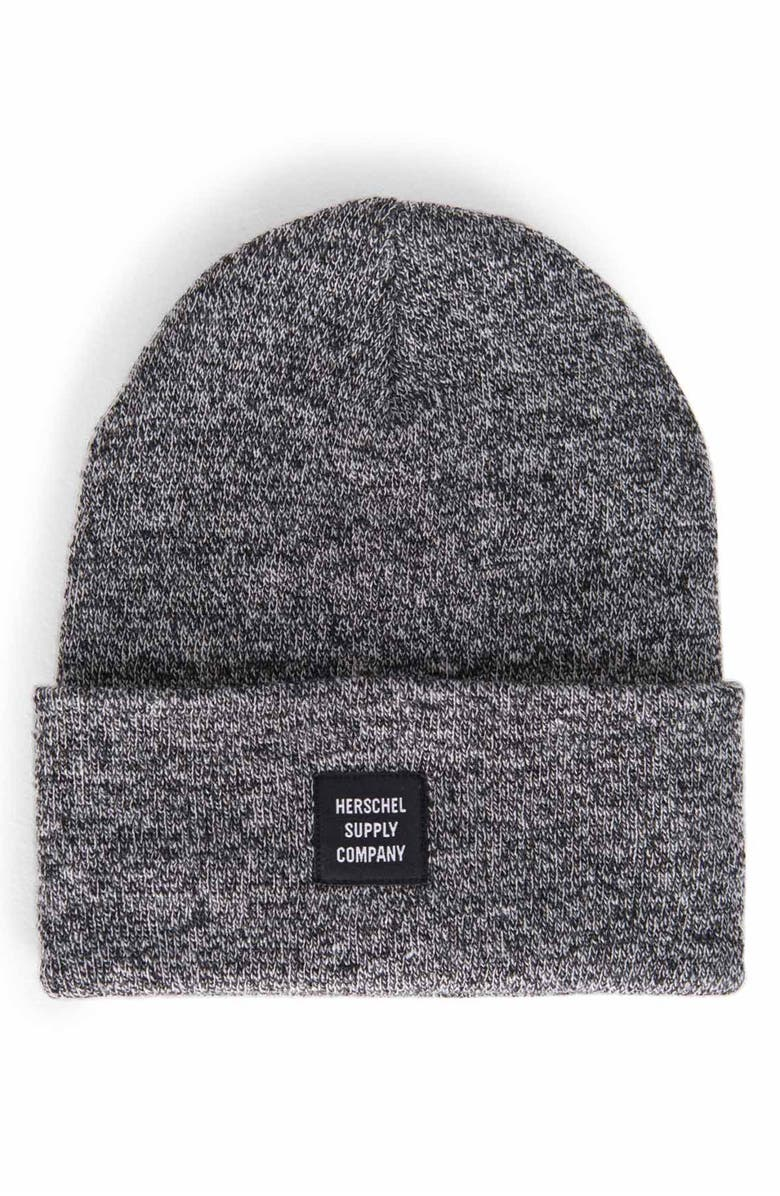 HERSCHEL SUPPLY CO. 'Abbott' Knit Cap, Main, color, HEATHER BLACK
