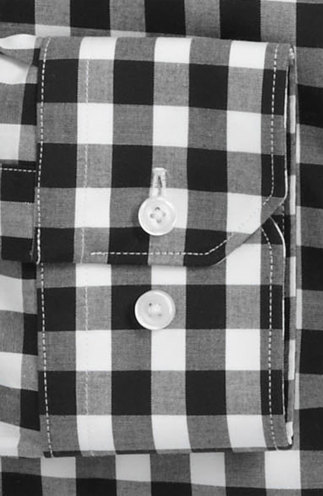 ,                             Slim Fit Non Iron Gingham Dress Shirt,                             Alternate thumbnail 2, color,                             001