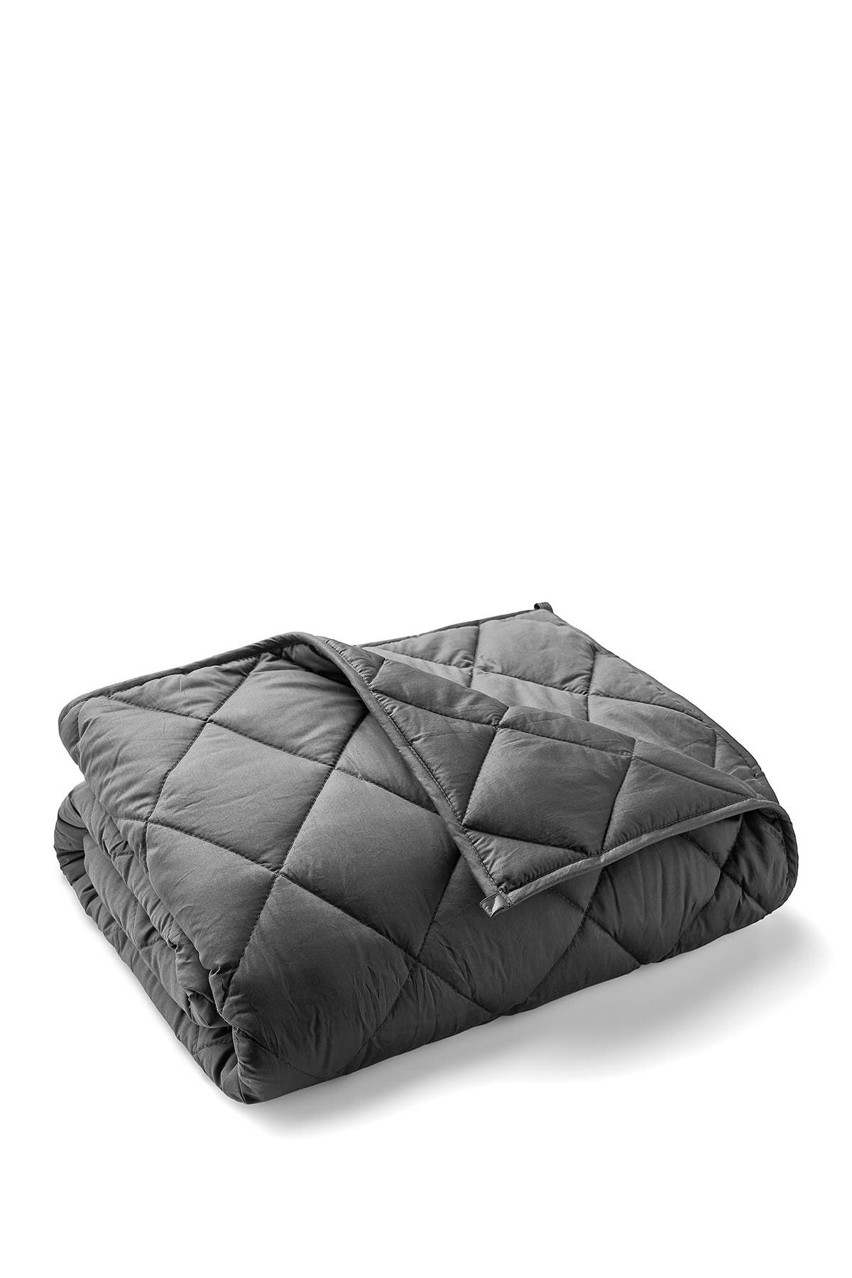 """Image of Melange Home Charcoal Cotton Weighted Throw - 48""""x72"""""""