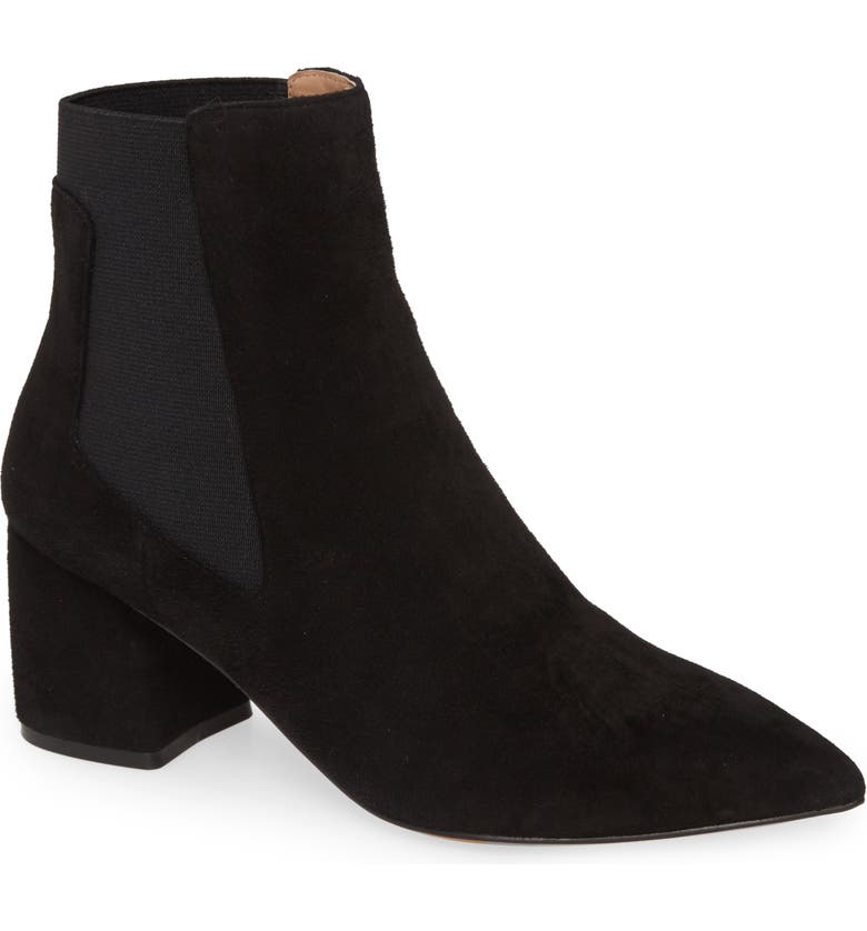 LINEA PAOLO Sienna Chelsea Boot, Main, color, BLACK/ BLACK LEATHER