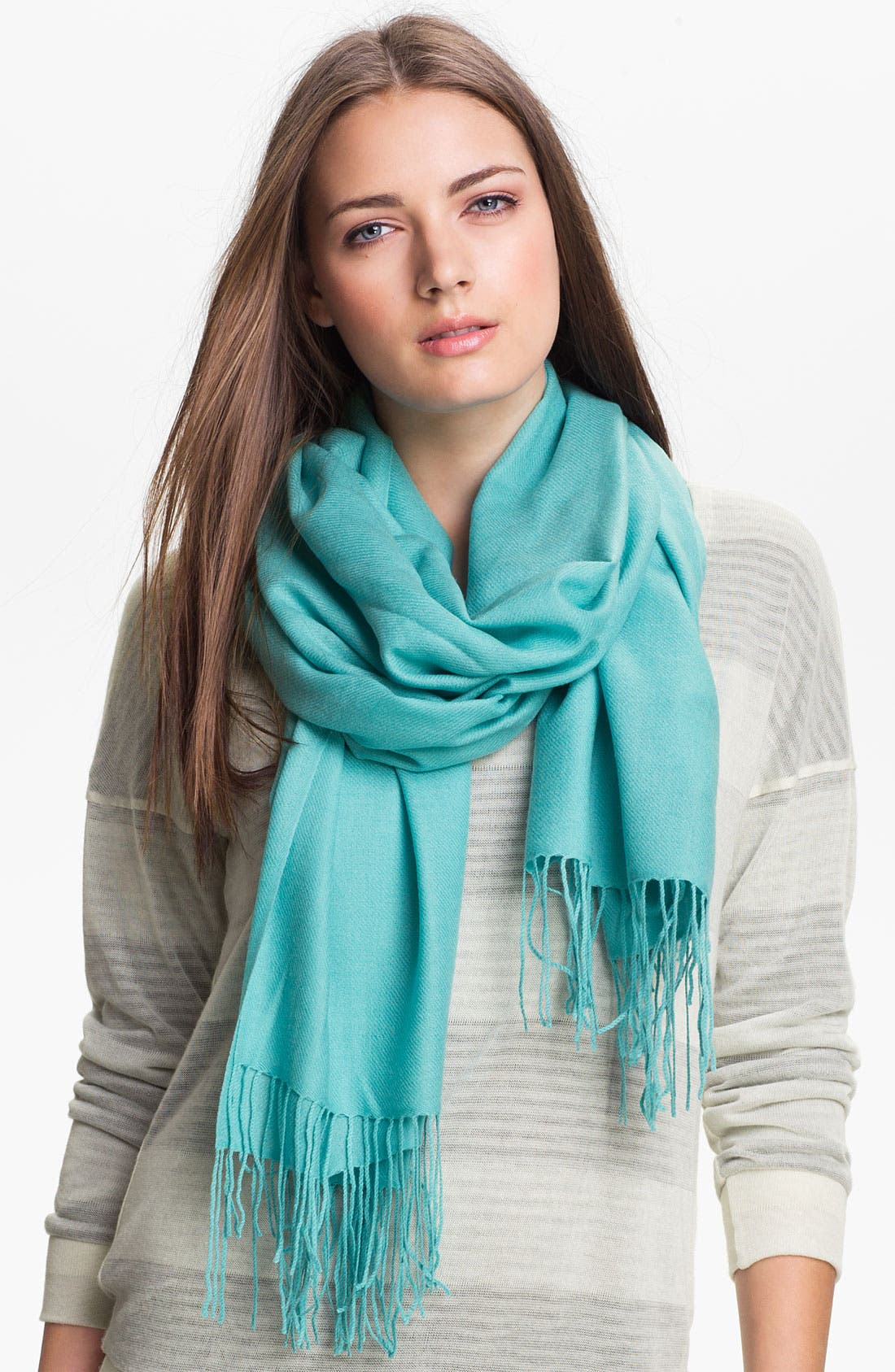 ,                             Tissue Weight Wool & Cashmere Wrap,                             Main thumbnail 50, color,                             304