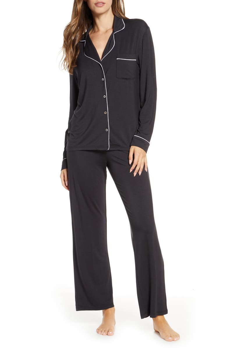 UGG<SUP>®</SUP> Lenon Jersey Pajamas, Main, color, BLACK
