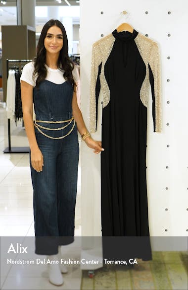 Beaded Choker Neck Gown, sales video thumbnail