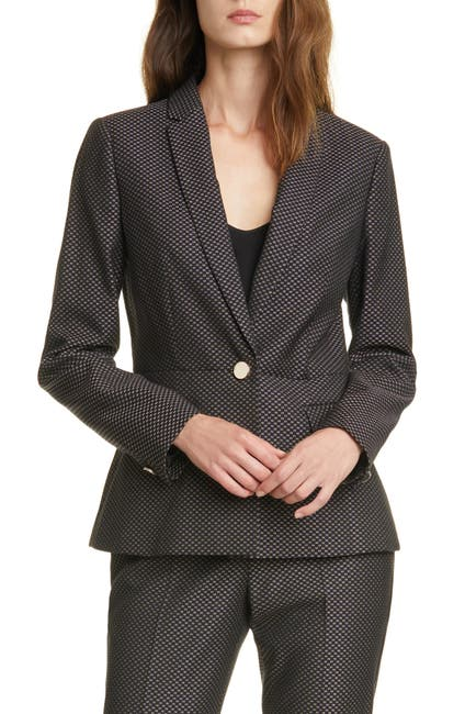Image of Ted Baker London Neola Notch Lapel Jacquard Suit Jacket