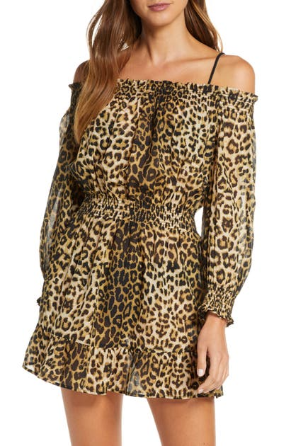 Veronica Beard Dresses ARCOS LEOPARD PRINT COVER-UP DRESS