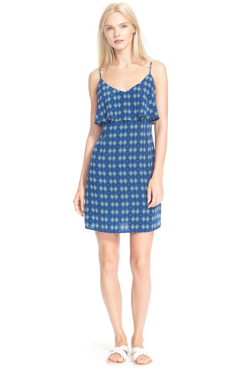 JOIE 'Parthena' Print Ruffle Silk Shift Dress, Main, color, 403