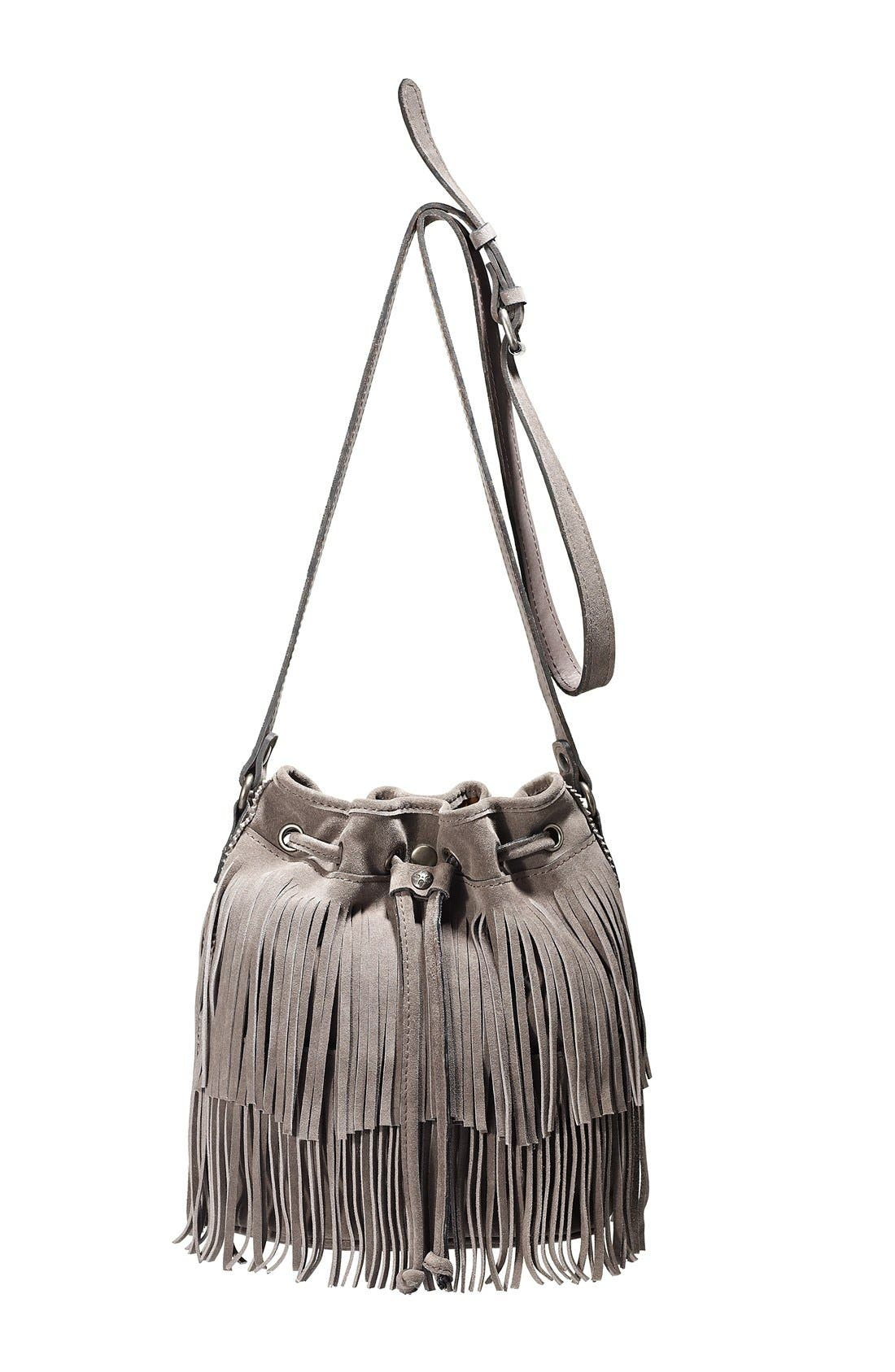 ,                             'Bronte' Fringe Bucket Bag,                             Alternate thumbnail 15, color,                             201