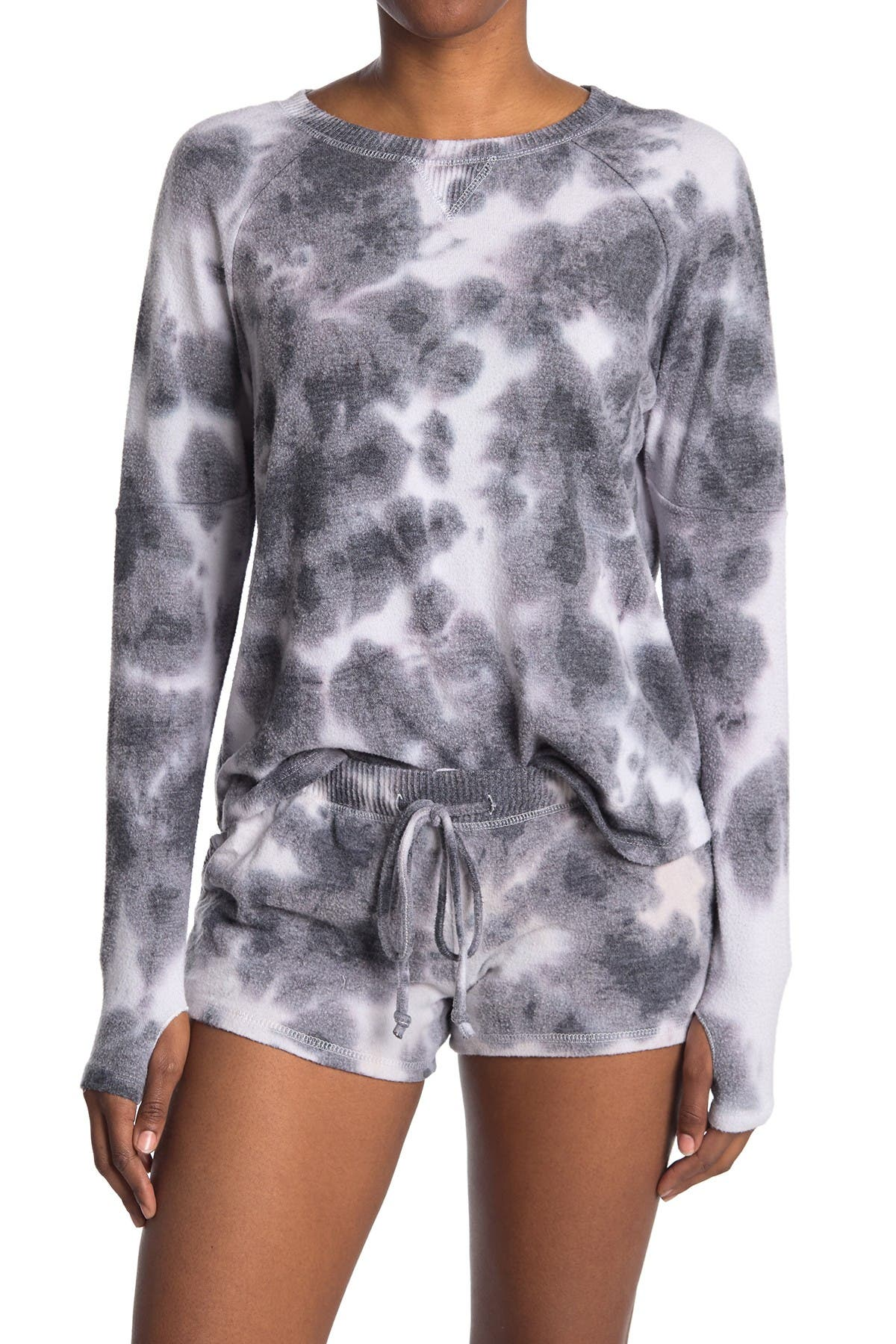 Image of Theo and Spence Tie-Dye Thumbhole Lounge Pullover