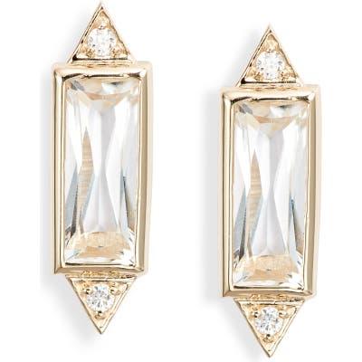 Anzie Cleo Baguette Topaz Stud Earrings