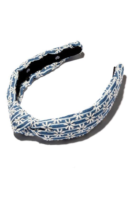 LELE SADOUGHI Headbands DAISY STRIPED SLIM KNOTTED HEADBAND