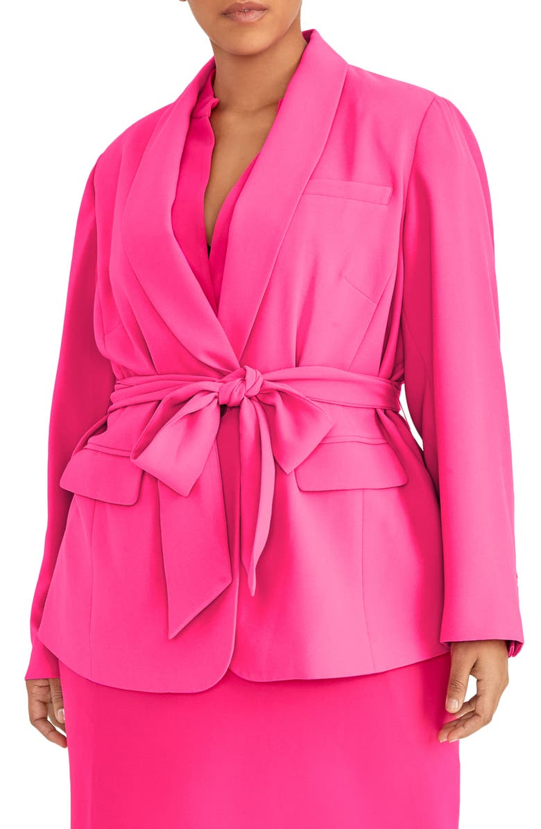RACHEL ROY COLLECTION Wrap Blazer, Main, color, PASSION PINK