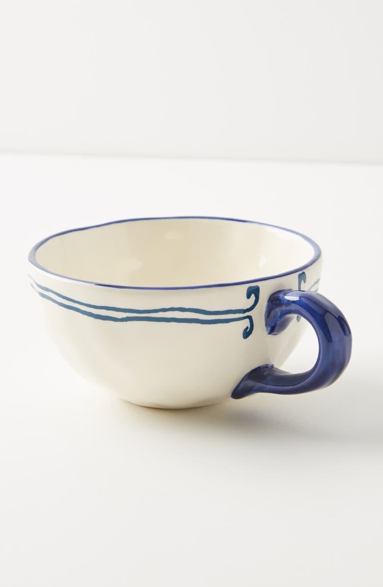 ANTHROPOLOGIE Sardina Set of 4 Mugs, Main, color, BLUE