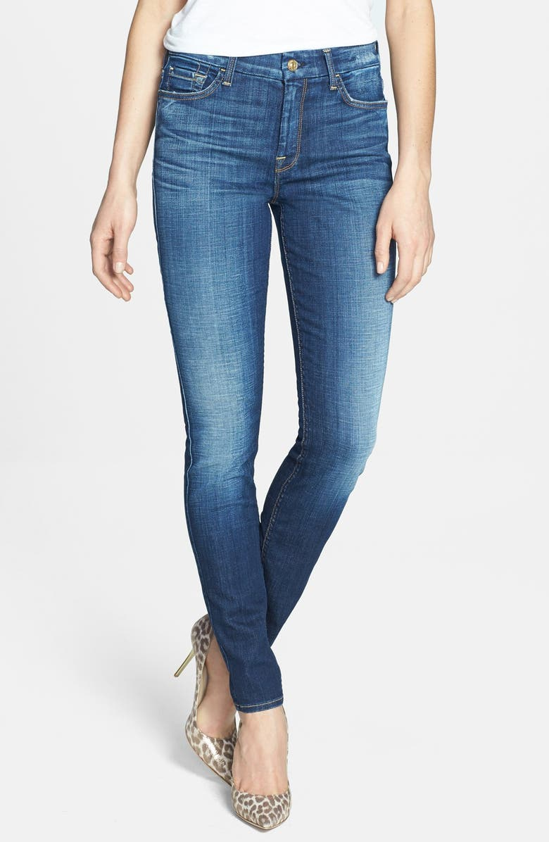 7 FOR ALL MANKIND<SUP>®</SUP> High Rise Skinny Jeans, Main, color, 400