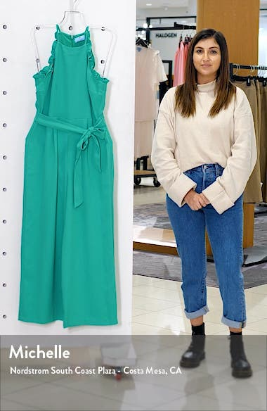 Sleeveless Belted Ruffle Jumpsuit, sales video thumbnail