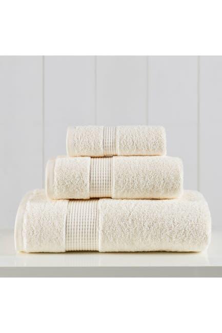Image of Modern Threads Manor Ridge Turkish Cotton 3-Piece Towel Set - Ivory