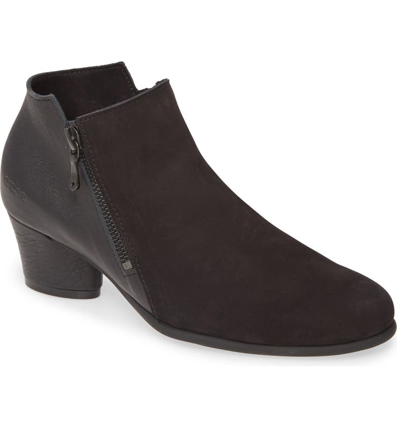 ARCHE Mushka Bootie, Main, color, NOIR/ NOIR NUBUCK LEATHER