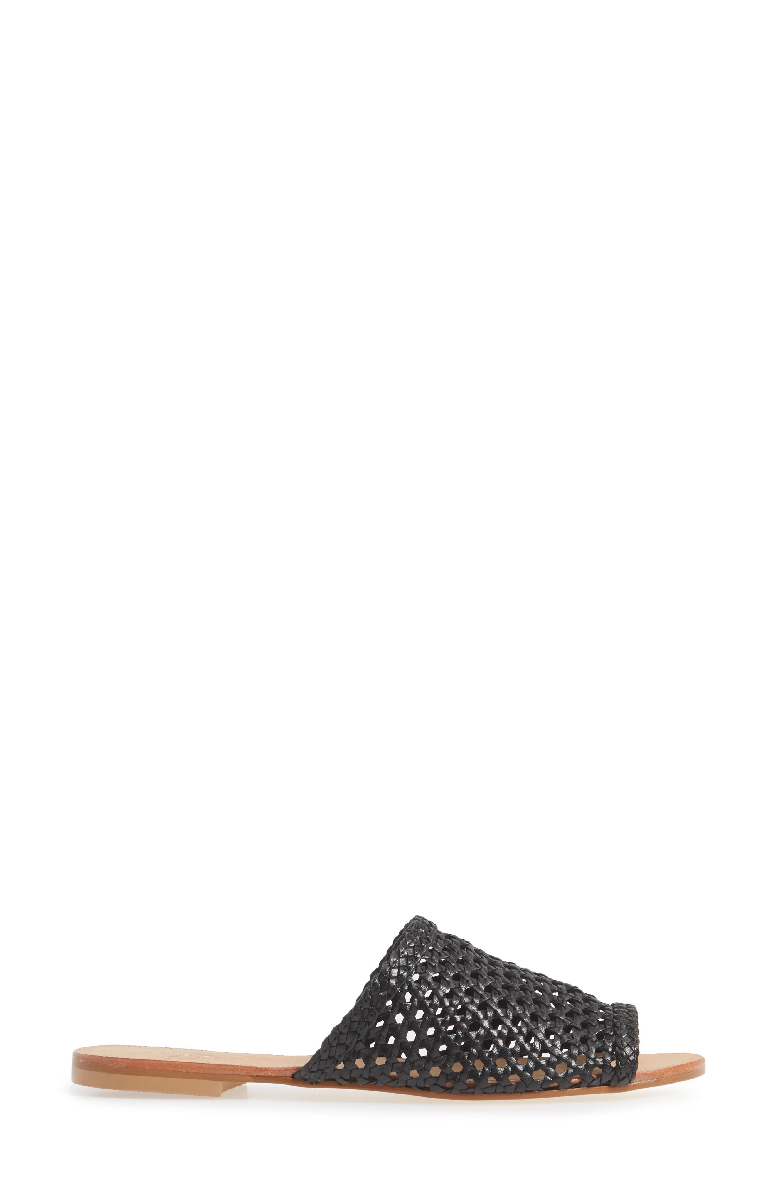 ,                             Begonia Slide Sandal (Women0,                             Alternate thumbnail 3, color,                             BLACK LEATHER