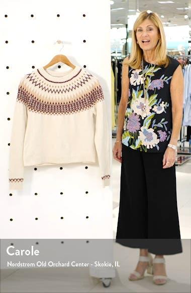 Leyla Fair Isle Sweater, sales video thumbnail