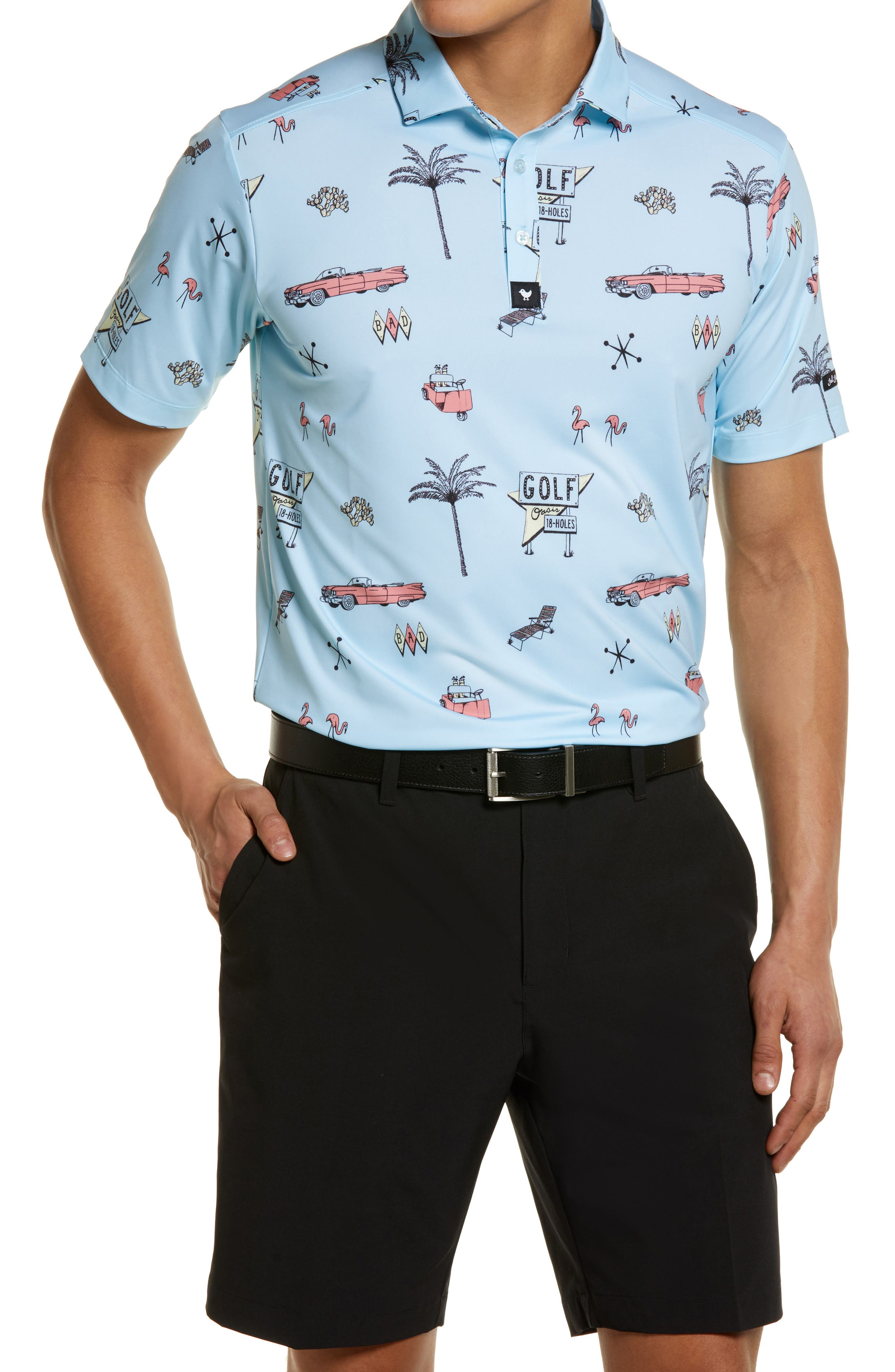 The Drive In Print Short Sleeve Polo