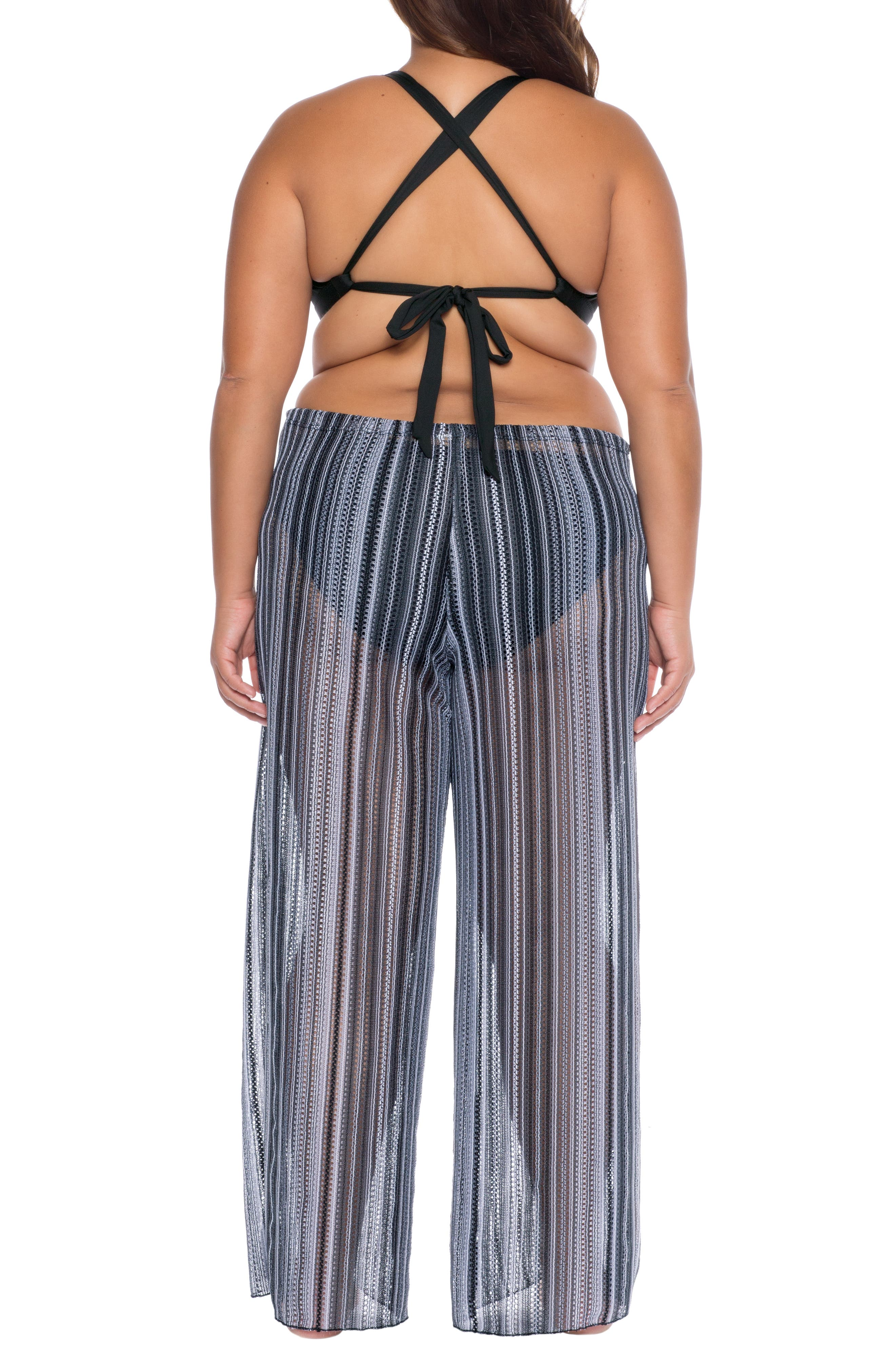 ,                             Pierside Cover-Up Flyaway Pants,                             Alternate thumbnail 2, color,                             BLACK
