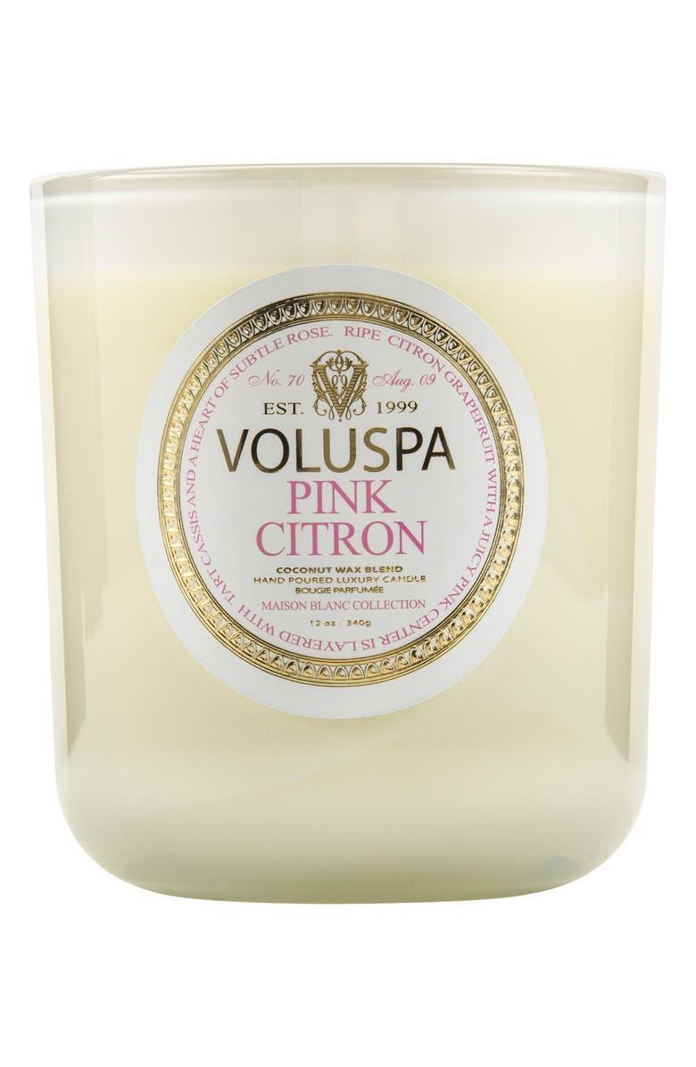 VOLUSPA Maison Blanc Pink Citron Classic Maison Candle, Main, color, 000