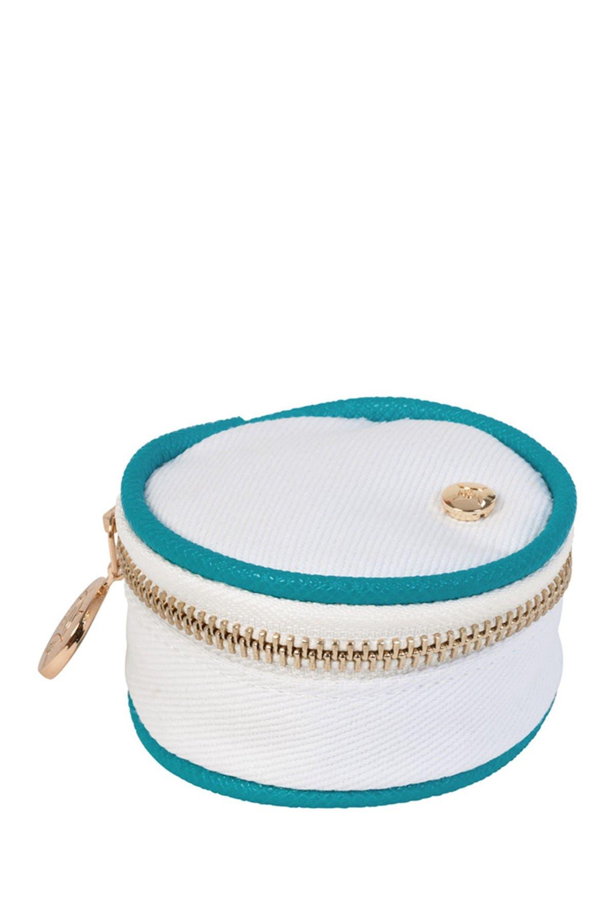 Stephanie Johnson Key West Angie Small Round Accessories Case - Blue