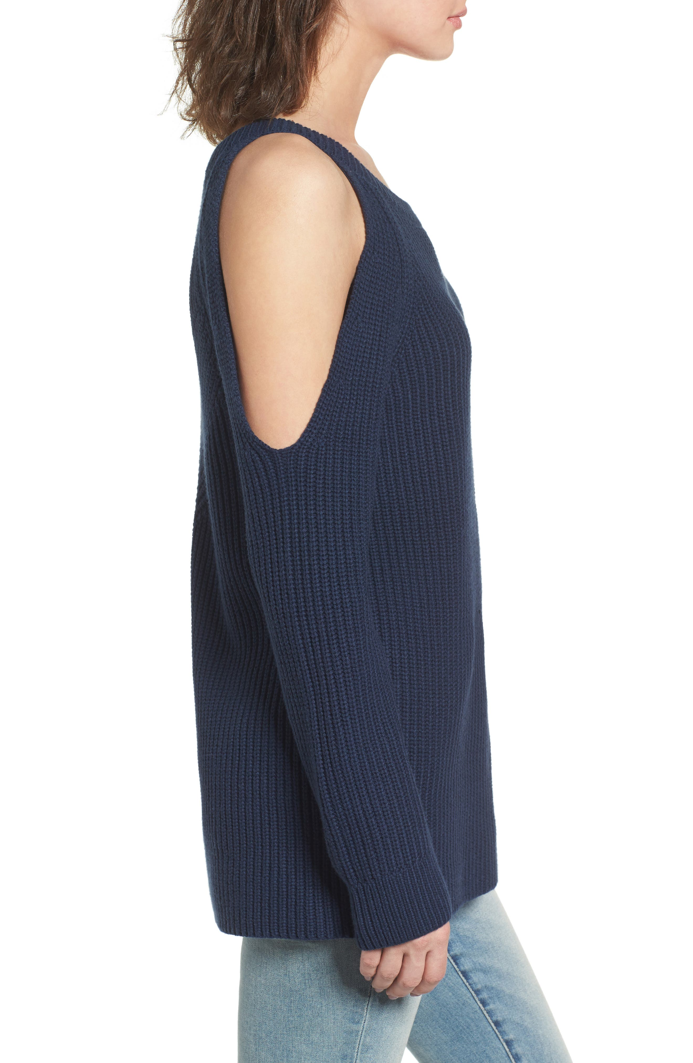 ,                             Asymmetrical Cold Shoulder Sweater,                             Alternate thumbnail 15, color,                             400