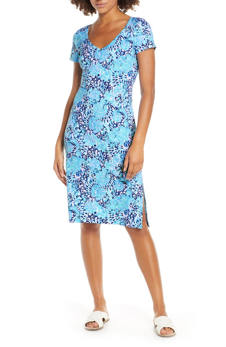 LILLY PULITZER<SUP>®</SUP> Malin T-Shirt Dress, Main, color, LIGHT AQUA SPRITZ