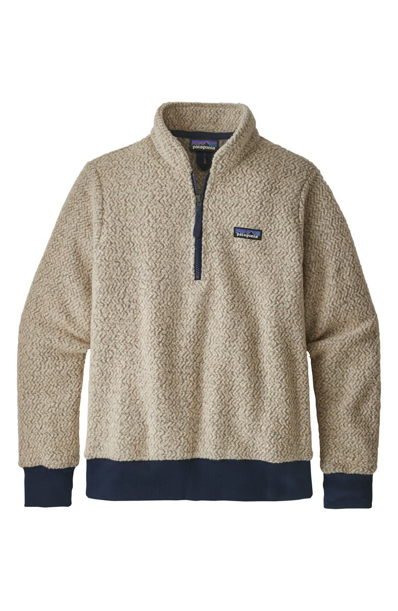 PATAGONIA Woolyester Fleece Quarter Zip Pullover, Main, color, OATMEAL HEATHER