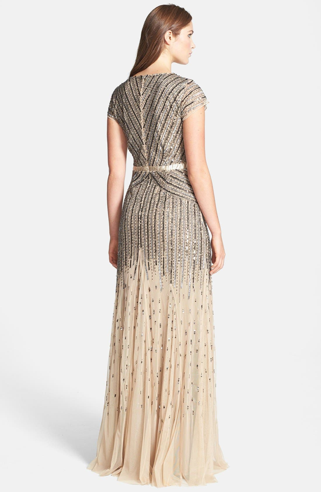 ,                             Embellished Mesh Gown,                             Alternate thumbnail 8, color,                             291