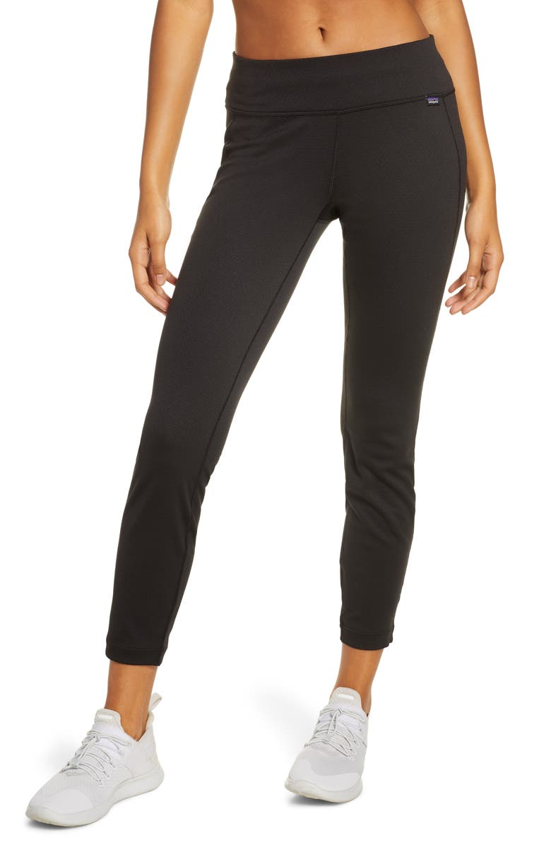 PATAGONIA Capilene<sup>®</sup> Midweight Base Layer Pants, Main, color, BLK BLACK