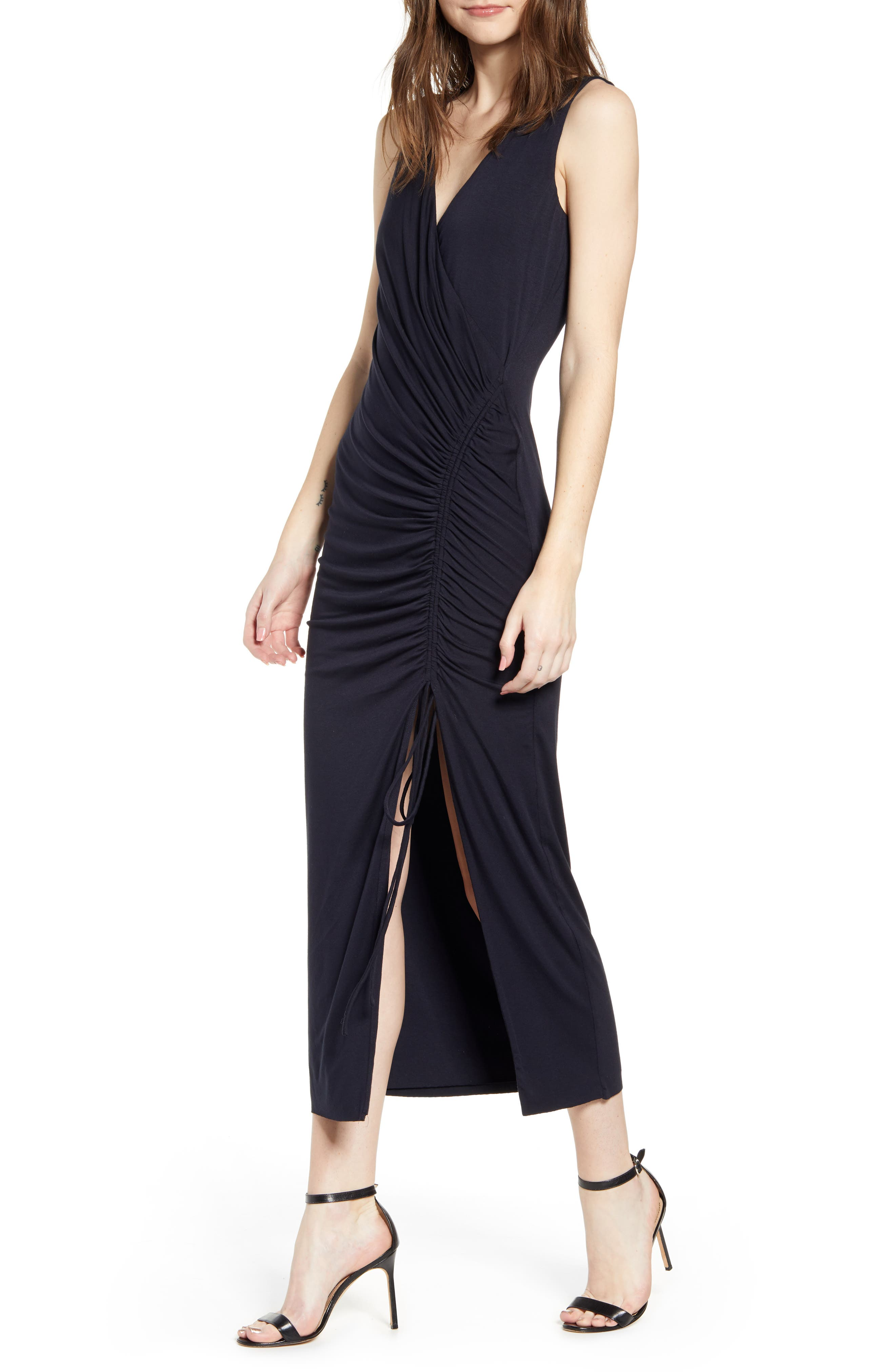 Bailey 44 Aphrodite Ruched Knit Dress, Blue