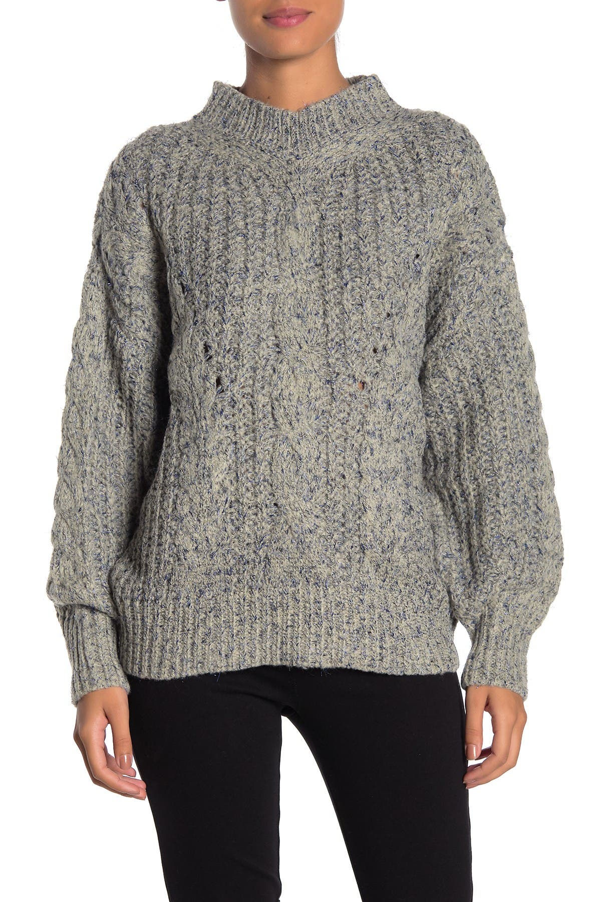 Image of FRNCH Long Sleeve Mock Neck Sweater