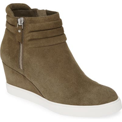 Linea Paolo Frieda Wedge Bootie, Green