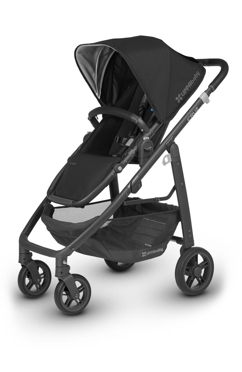UPPABABY 2018 CRUZ Aluminum Frame Stroller, Main, color, JAKE BLACK/ CARBON