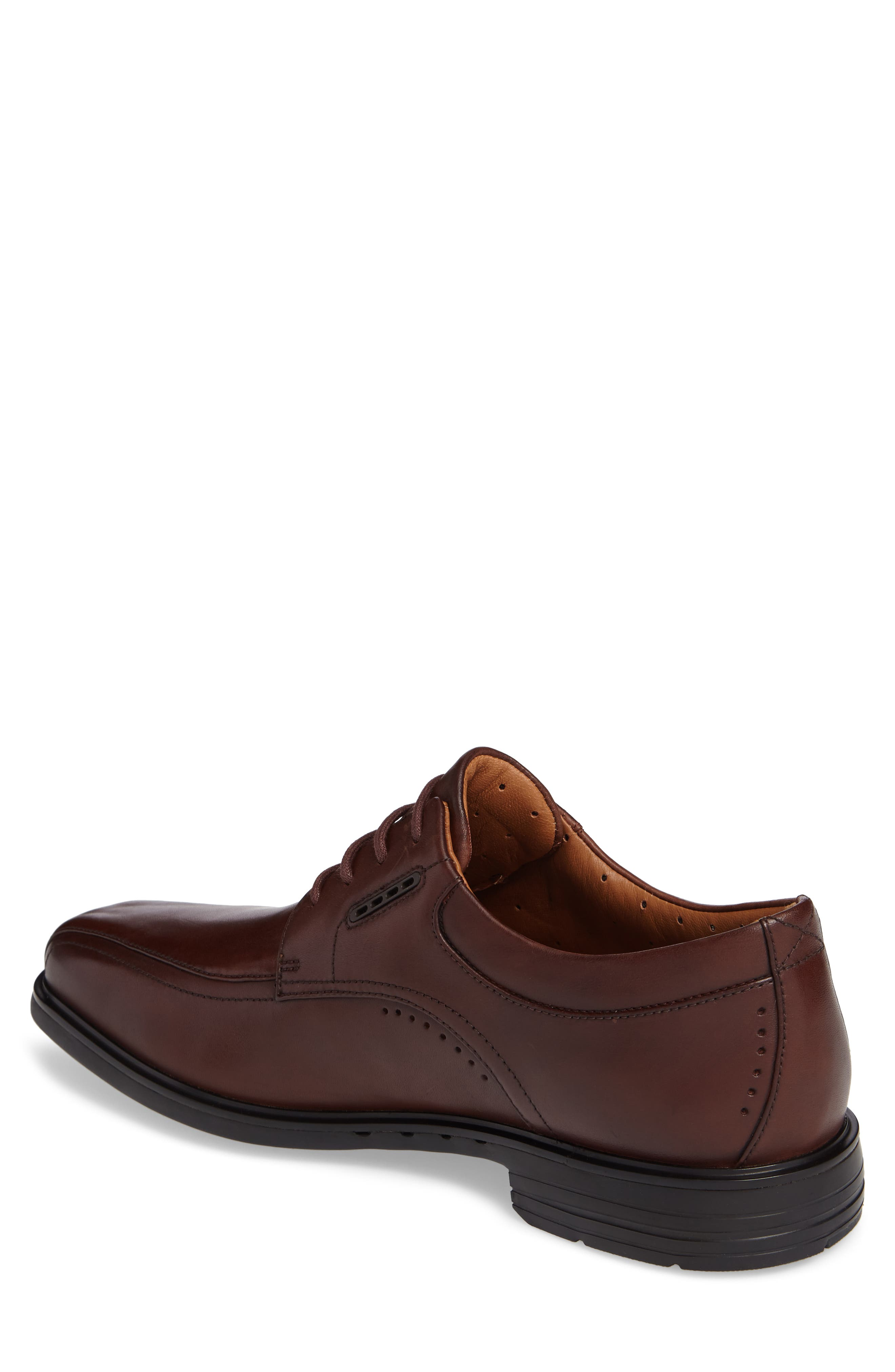 ,                             Un.Kenneth Bike Toe Oxford,                             Alternate thumbnail 2, color,                             BROWN LEATHER